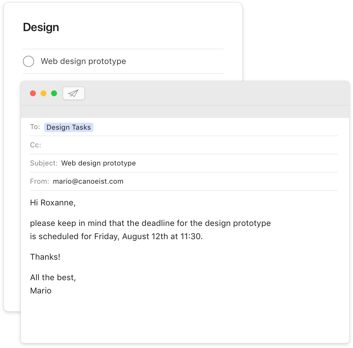 todoist premium feature forward emails inbox user interface